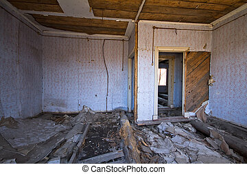 thrown  room - the room in the thrown house in a solitude