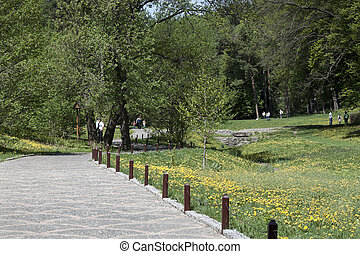 Sofiyivsky Park in Uman, Ukraine - Sofiyivsky Park is...