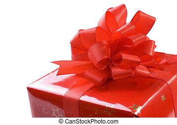 hermoso, regalo, caja