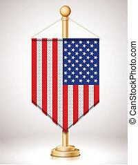 USA's flag on flagstaff