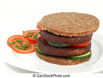 meatless Burger - soja-burger