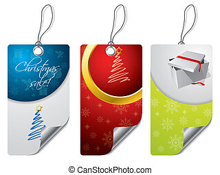 Christmas design label set