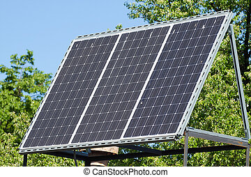 Sunny battery  - Solar panels on the roof