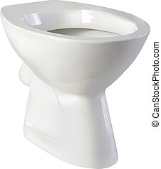 toilet seat - vector realistic toilet seat on white...