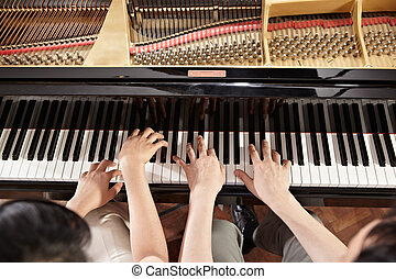 鋼琴, 二重奏