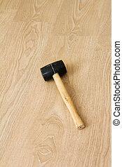 Hammer on New Laminate Flooring