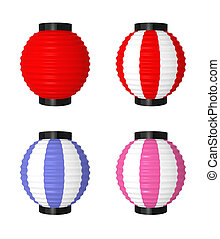 Japanese Lanterns - The objects made at 3d