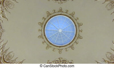 The old ceiling with stucco
