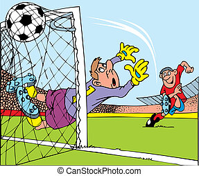 soccer players - illustrated soccer players as a nice...