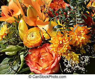 Flower arrangement - Bouquet with an arrangement of spring...