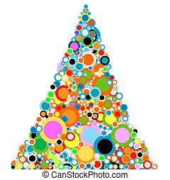abstract christmas-tree