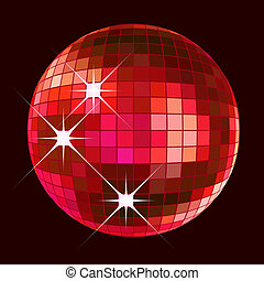 disco ball - retro party background with disco ball,...