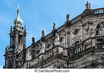 Detail of Hofkirche Dresden - Detail of the cathedral with...