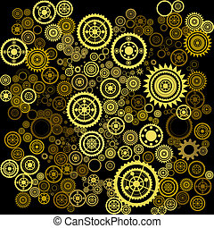 abstract clockwork background - vector abstract clockwork...