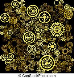 abstract clockwork background - vector abstract clockwork...