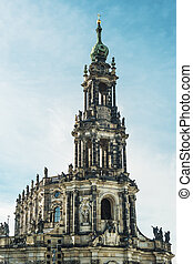 Hofkirche Dresden - Cathedral with name Hofkirche in...