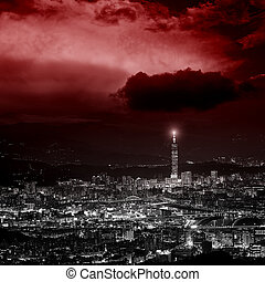 Night view of taipei city, taiwan - City skyline in night...