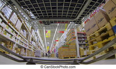 Shopping basket, supermarket