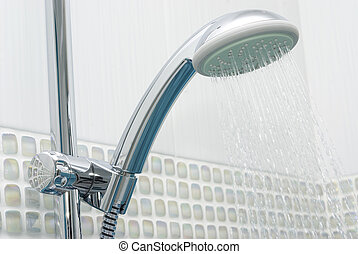 Shower head  - Head shower while running water