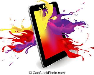 Digital tablet color