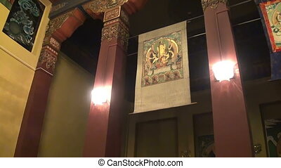 Buddhist, Temple, Interior