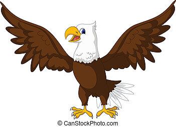 cute eagle cartoon - vector illustration of cute eagle...