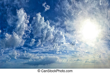 Background of Blue Texture of Skyscape - Background of Blue...