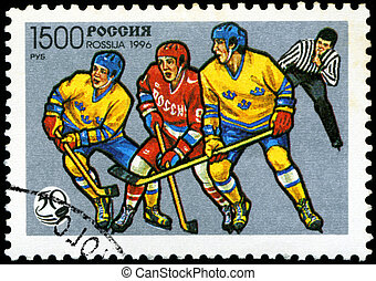 USSR - CIRCA 1996: A stamp printed in Russia shows the Ice...