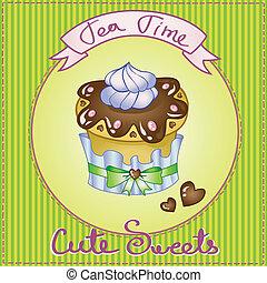 cute cake card