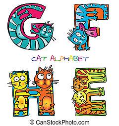 cat alphabet e f g h