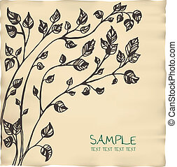 romantic tree invitation parchment card template