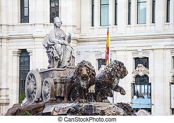 Cibeles Fountain in Madrid,Spain.