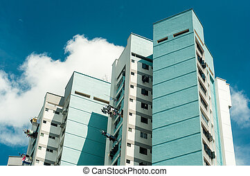Flats apartments of Housing Development Board (HDB)...