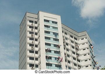 Flats apartments of Housing Development Board (HDB) Singapore