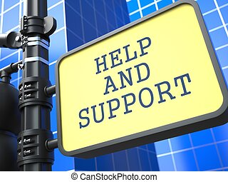 Service Concept. Help and Suppor Roadsign. - Service...