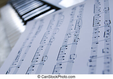 Sheet music - Piano music sheets