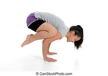 Girl in Yoga Pose - Girl Doing Yoga Pose in a Studio
