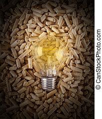 producción, electricidad, madera, Pelotillas