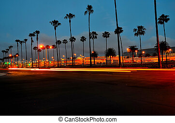John Wayne Airport - Rush hour at airport at Santa ana,...