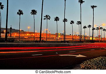 John Wayne Airport - Rush hour at airport at Santa ana,...