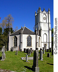 Glenorchy, Church of Dystart - 19th century octagonal church...
