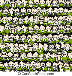 Seamless pattern with people icons for your design - This...