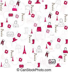 Seamless accessories wallpaper vector