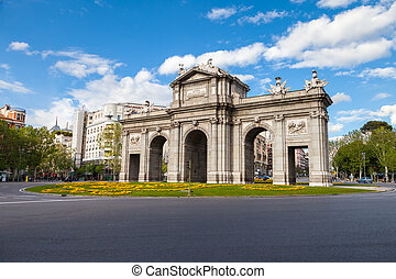 Alcala - Puerta de Alcala is a monument in the Independence...