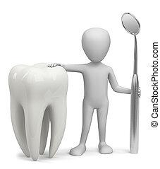 3D, 人, -, 歯科医
