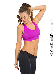Portrait of fitness young woman