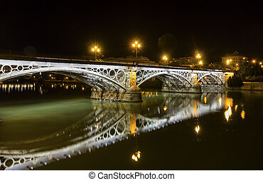 Triana Bridge - Seville,Triana Bridge close up at...