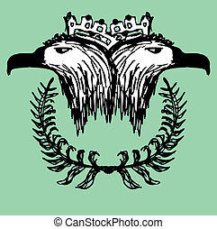 hand drawing eagle head vector art