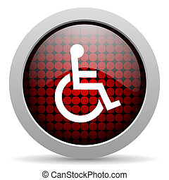 accessibility glossy icon