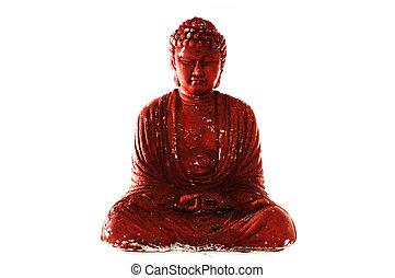 buddah enlightened - an enlightened buddah plaster cast -...
